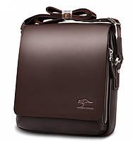 Мужская сумка барсетка Kangaroo Kingdom Черная и Коричневая Коричневый