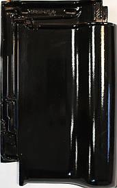 Керамическая черепица Creaton TITANIA  черный глазурь финесс