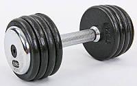 Гантель цельная профессиональная стальная RECORD 12,5кг (1шт) TA-7231-12_5