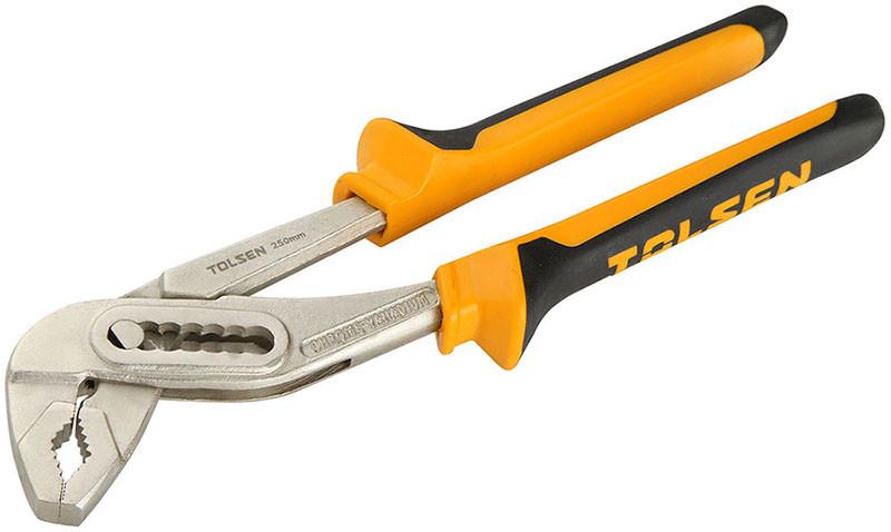 Ключ (клещи) переставные Tolsen  250 мм Эрго рукоятка (10014)