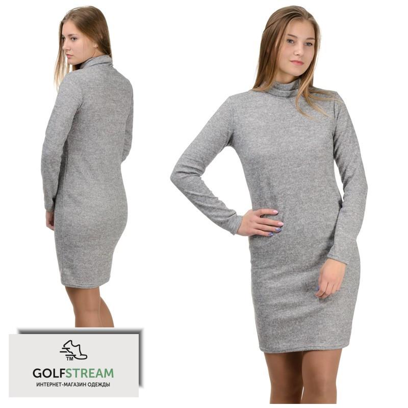 """Платье-гольф """"Monika"""" светло-серый"""