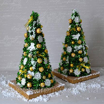 """Оригинальный новогодний подарок """"Елка из конфет"""", фото 2"""