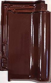 Керамическая черепица Creaton TITANIA красное вино глазурь финесс