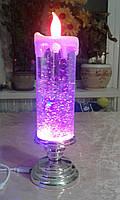 Лава лампа Светильник торнадо новогодняя свеча с блестками S-900 синяя