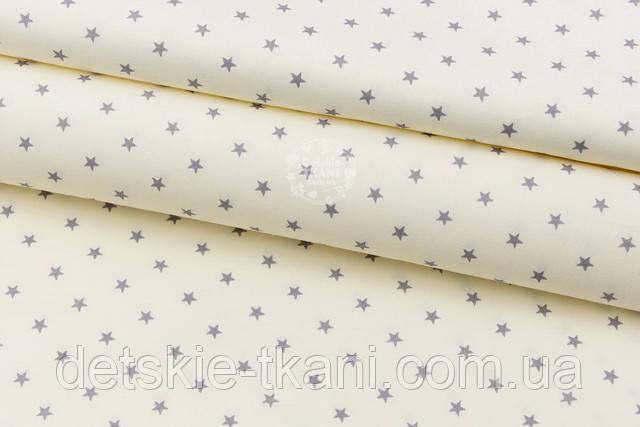кремовая ткань со звёздами