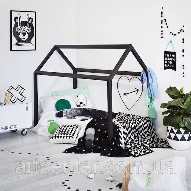 Кроватка-домик напольная, для мальчика