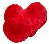 Плюшевая подушка Сердце 22 см  красный