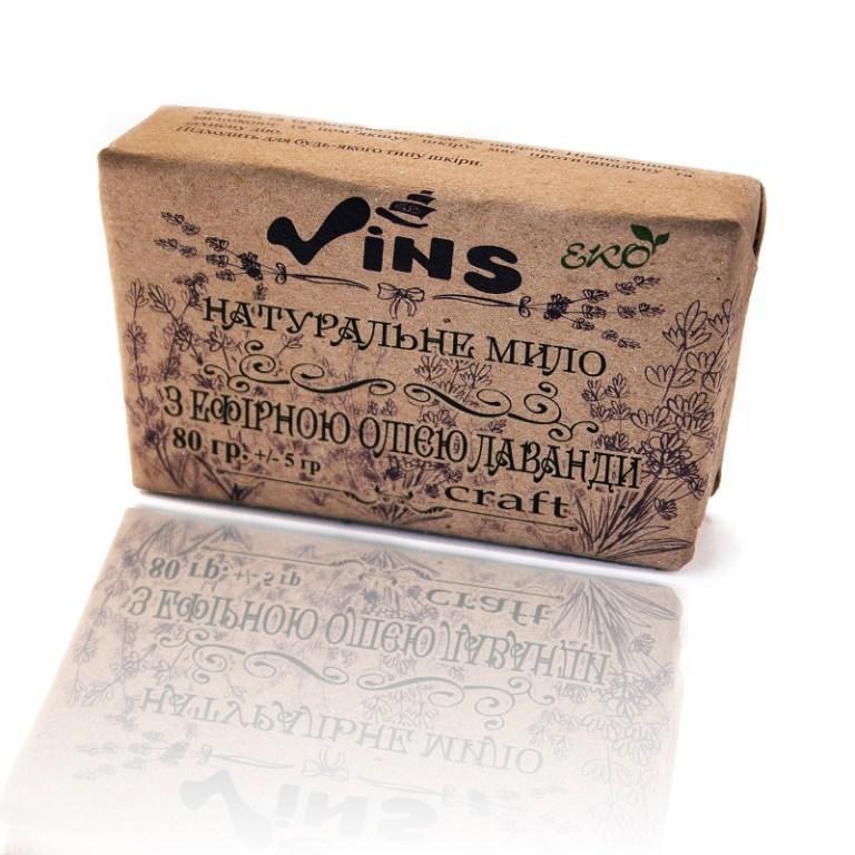 Мыло Vins с эфирным маслом лаванды 80 г