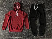 Костюм спортивный мужской, хлопоковый трикотаж, флис код товара OS-084.  Красный с d5a2e7e6349