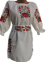 Вишите жіноче плаття в українському стилі
