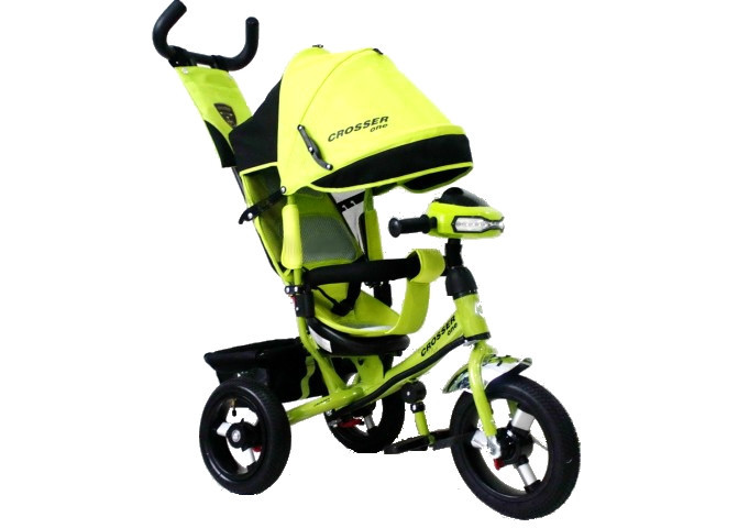 Детский трехколесный велосипед Crosser One колеса EVA Салатовый!