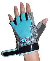 Перчатки для фитнеса женские RDX Blue L, фото 3