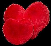Плюшевая подушка Сердце 15 см красный