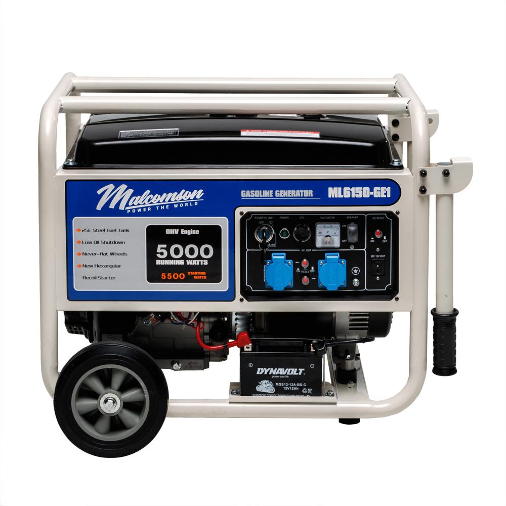 Генератор бензиновий Malcomson ML6150‐GE1 (5,5 кВт)