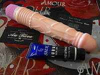 Вибратор 22 см + смазка для анального секса