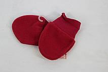 Варежки для малышей красные