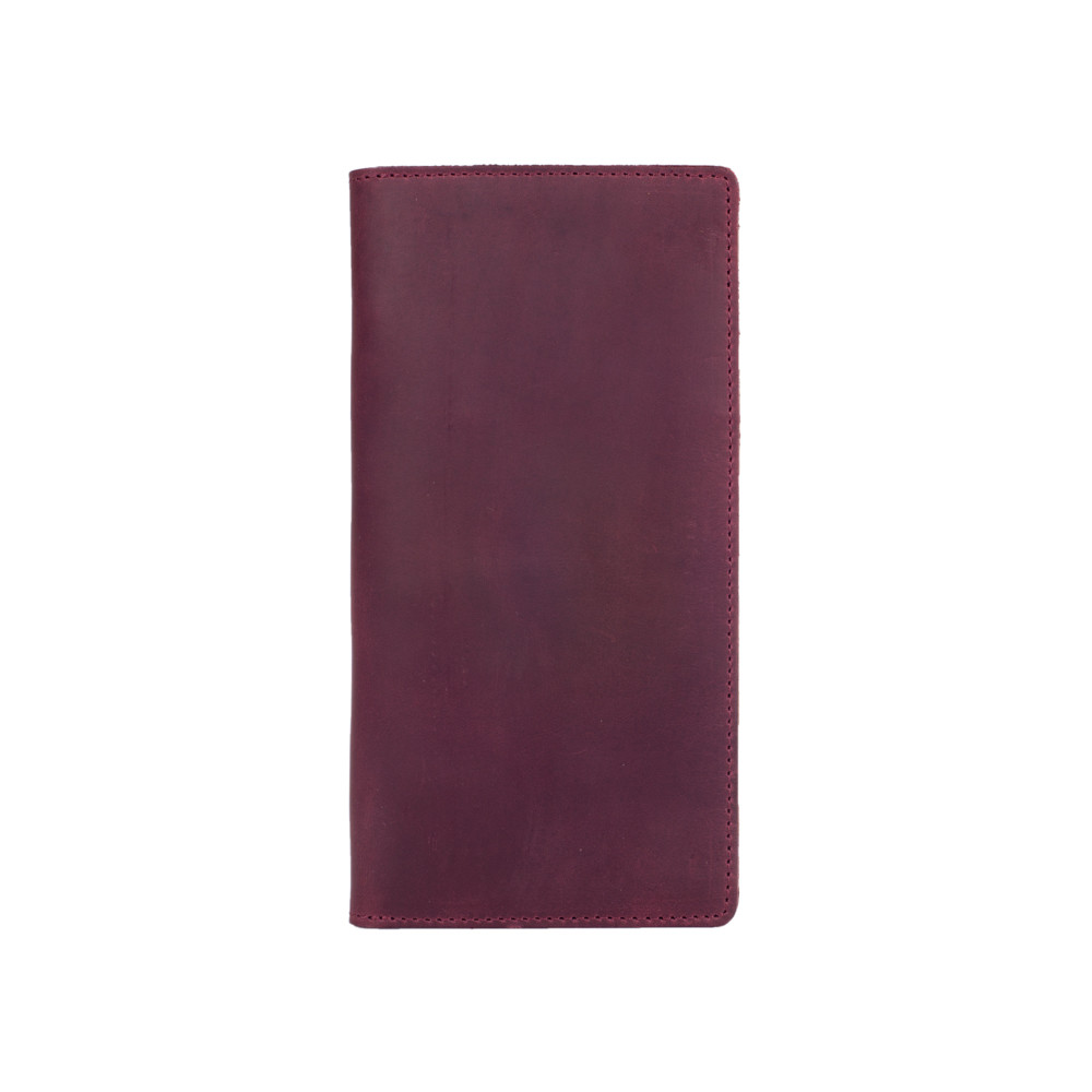 Износостойкий фиолетовый кожаный бумажник на 14 карт