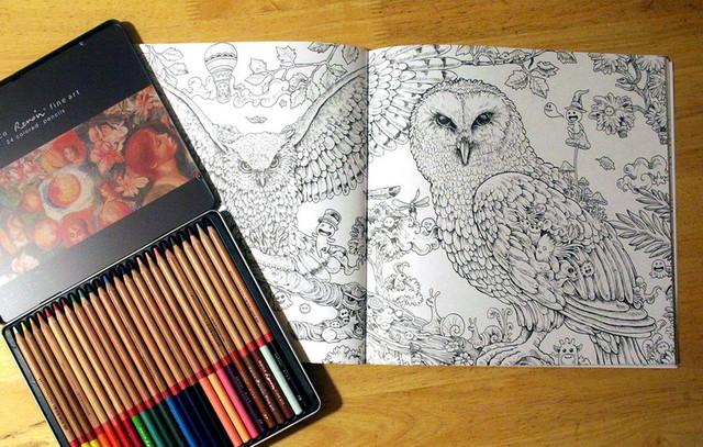 Раскраска антистресс с карандашами Marco Renoir Fine Art 24-ТN