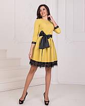 Платье пояс бант в расцветках 23439, фото 2