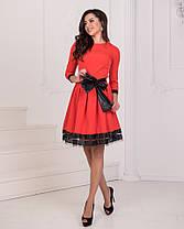 Платье пояс бант в расцветках 23439, фото 3