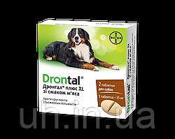 Дронтал Плюс антигельминтик для собак со вкусом мяса 6 шт