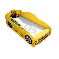 """Кровать машина мальчику """"Трансформеры"""" желтого цвета, фото 1"""