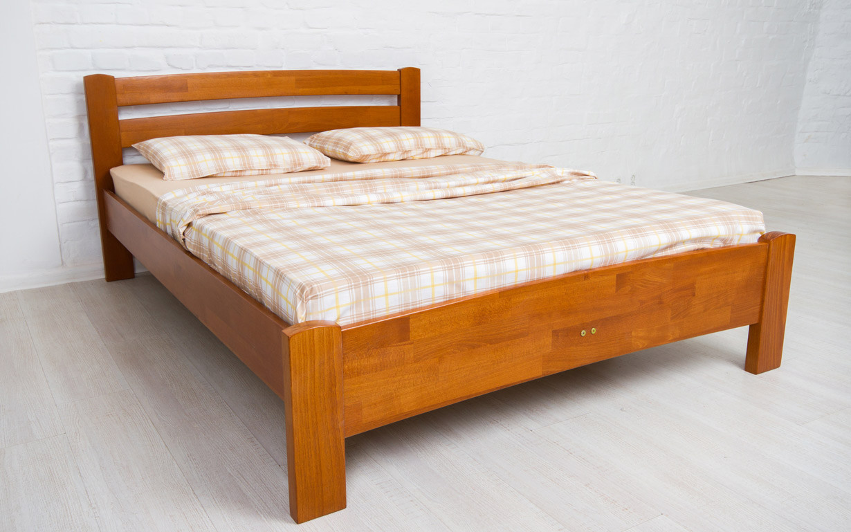 Деревянная кровать Милана Люкс 80х190 см. Аурель (Олимп)
