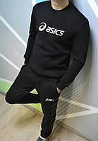 Спортивный костюм мужской теплый Asics утепленный black. Живое фото. реплика 5f6d0277b53