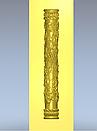 Колона різьблена дерево 100х100х800мм, фото 3