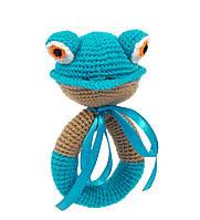 Брязкальце жаба блакитно-коричнева