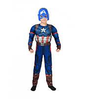 Детский карнавальный костюм Капитана Америка с мышцами на Новый Год, маскарад