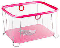 Манеж Qvatro Солнышко-02 мелкая сетка  розовый (слон dumbo)