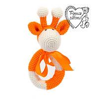 Погремушка жираф оранжевый