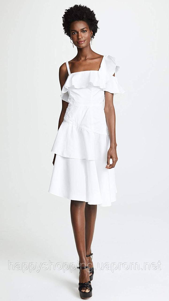 Женское белое хлопковое платье Kendall+Kylie