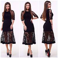 Платье вставка сетка в расцветках 23634