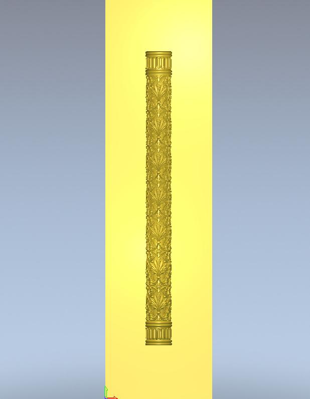 Колона різьблена дерево 120×120×800 мм