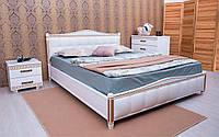 Деревянная кровать Прованс Мягкая спинка квадраты с механизмом 120х190 см. Аурель (Олимп), фото 1