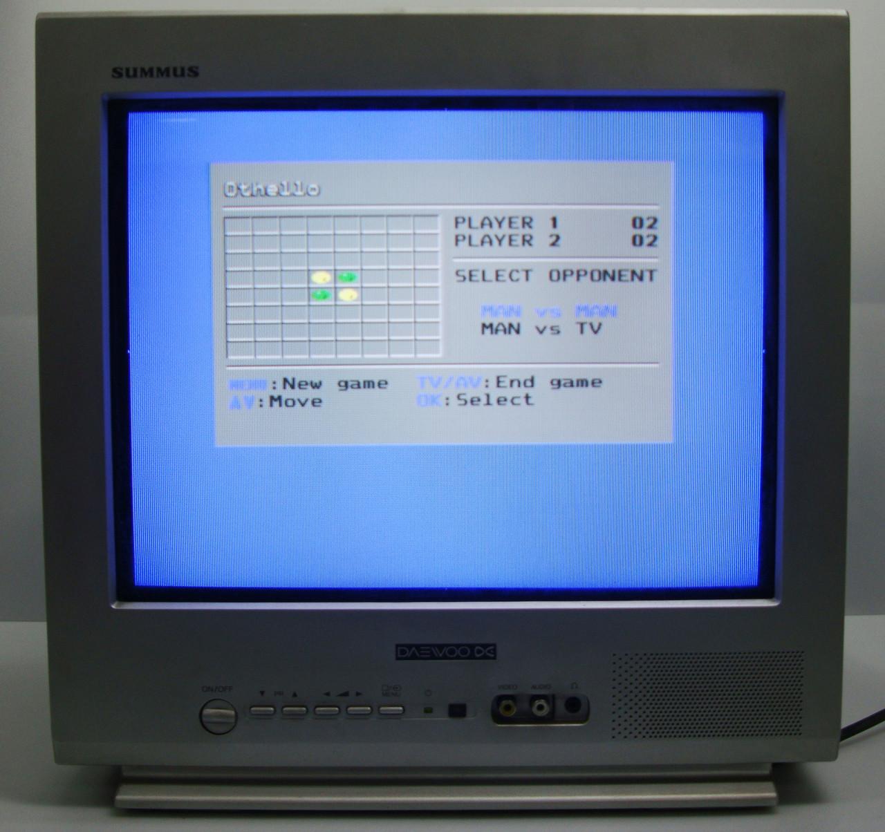 ЭЛТ телевизор маленький с плоским экраном Daewoo KR15U7FL