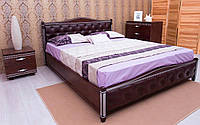 Деревянная кровать Прованс Мягкая спинка ромбы 120х190 см. Аурель (Олимп), фото 1