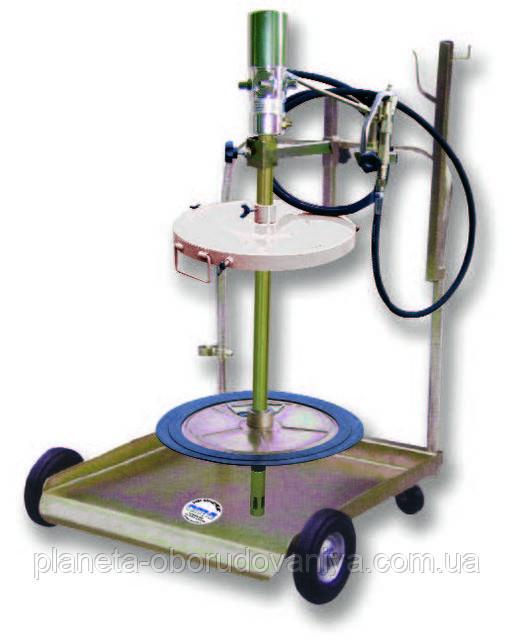 Передвижная установка для раздачи смазки для бочек 180-200 кг АРАС 1782.А