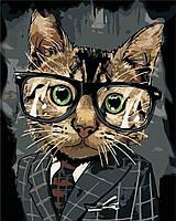 """Картина своими руками """"Офисный кот"""", 40х50см, С Коробкой"""