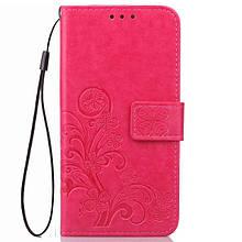 Кожаный чехол (книжка) Four-leaf Clover с визитницей для Xiaomi Mi Max 2