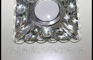 Точечный светильник,споты с LED подсветкой 7629B White