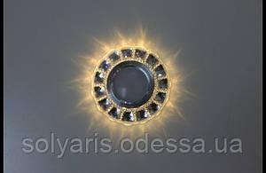 :Точечный светильник (спот)cо встроенной LED подсветкой 7058 White