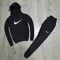 17328254efab Спортивный зимний костюм Nike с капюшоном утепленный black. Живое фото.  реплика