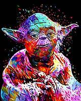 Картина своими руками Звездные войны Мастер Йода, 40х50см, С Коробкой, фото 1