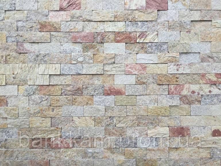Мозаїка-панель Кварцит перфект (без шва для фуги; уп. 0,5 кв.м.)