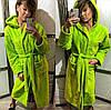 Банный халат женский длинный, плюшевая махра, Турция от 44 до 58 размера, фото 3