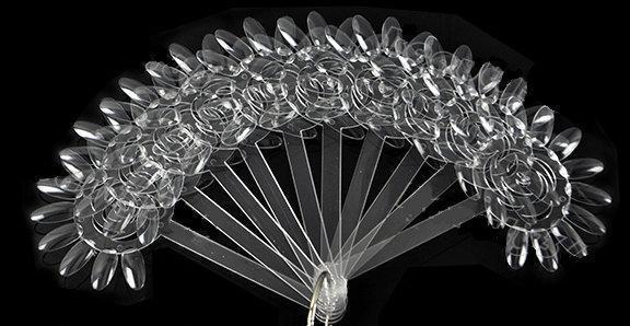 Палитра цветок-веер на кольце 10 шт.(120 типс) УЦЕНКА!!