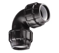 Отвод обжимной компрессионный 32*32 черный